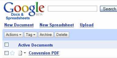 google docs con soporte para PDF