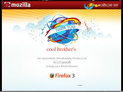 Firefox 3 logra record y supera la marca estipulada